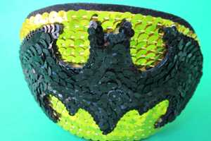 The Batman Emblem Sequins Headband is Nerdy and Chic