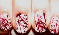 Brutally Bloody Nail Art - The iPolished Blood Splatter Expert Manicure Takes a Violent Approach