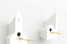 Religious Building Birdhouses - Even Birds are Spiritual in the Frederik Roije