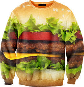 Hamburger Sweater by Mr Gugu and Miss Go