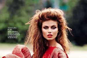 The Glamour Spain 'La Linea Roja' Editorial is Radiant in Red