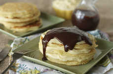 These Boston Creme Pie Pancakes are Sinfully Sweet