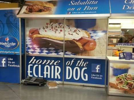 Chocolate Eclair Hot Dog