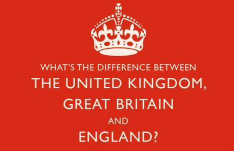 Geographical Explanation Infographics - The UK vs. Great Britain Chart Clears Up Confusion