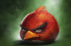 Sam Spratt Illustrates Lifelike Versions of Angry Birds Characters