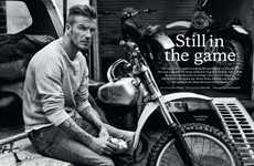 David Beckham for Esquire UK September 2012 is Dapper and Rustic
