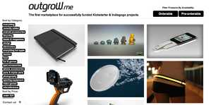 Outgrow.me Offers Consumers Kickstarter & Indiegogo Products