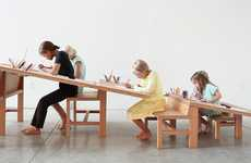 Ascending Art Stations - The Growth Table Encourages the Collective Creativity of All Ages