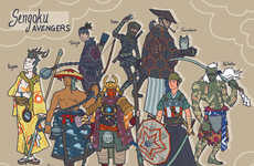 Alex Mitchell Re-Imagines Marvel Superheroes as Samurai Anime Characters