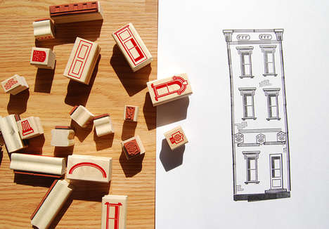 Paper Neighborhood Stamps