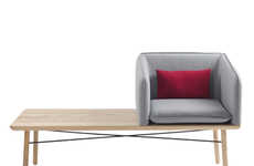Stylish Tabletop Seating - The Tub Collection Comprises Chairs, Tables and Chairs on Tables