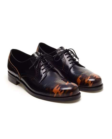Miharayasuhiro Camouflage Leather Brogues 