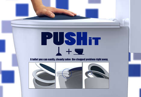 PUSHit Toilet Seat Design