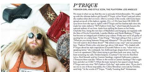 Fictitious Fashionista Profiles - The Coveteur P'Trique Feature is Haute and Hysterical