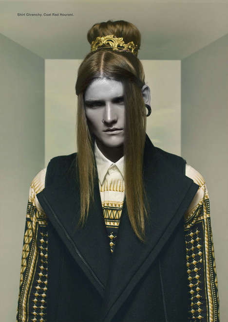 Mythical Androgyny Editorials - The Future is Noise DEW Photo Shoot Captures Eccentric Ensembles