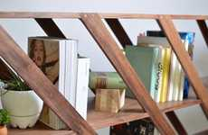 Sleek Slanted Shelving