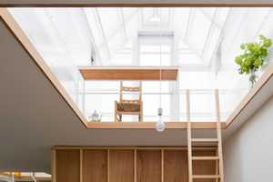 The House in Yamasaki is Capped with Little Light-Filled Abodes