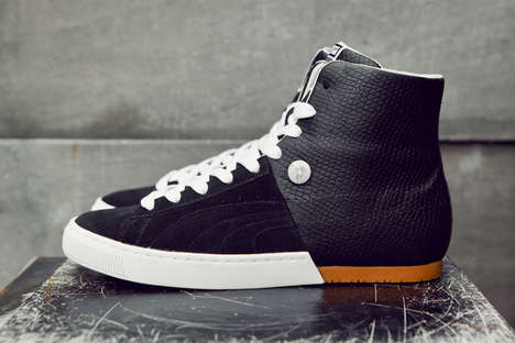 Split-Personality Shoes - The Puma by Miharayasuhiro MY-57 Mid Snake is Elegant and Sporty
