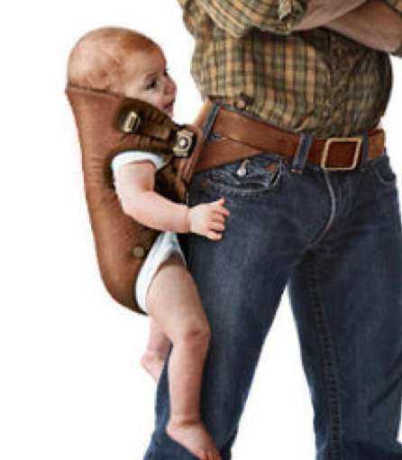 Cowboy-Inspired Baby Carriers - The 'Baby Hjölster' Holds Your Child Western Style