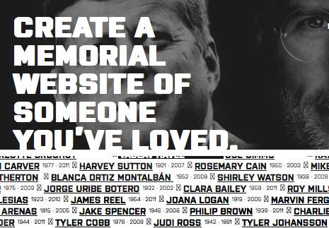 Online Cemetery Platforms - The Memmento Website Allows Users to Commemorate the Deceased