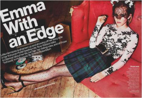 Transformed Starlet Editorials - Emma Watson for the Glamour October 2012 Edition is All Grown Up
