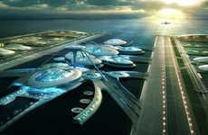 Futuristic Floating Airports