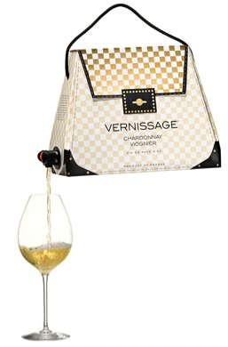 Chic Boxed Booze Bags - The 'Bag-in-Bag Wine' is Fashionable and Fun
