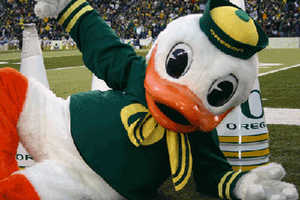 The Oregon Duck Breaks it Down Gangnam Style