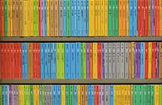Vibrant Book Stack Snapshots