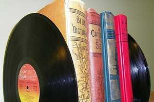 Recycled Vinyl Record Bookends Will Add Spunk to Any Book Shelf
