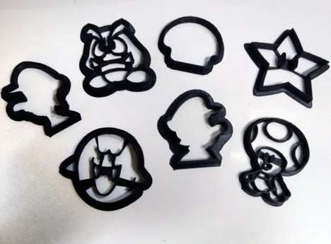 3D-Mario Themed Cookie Cutters