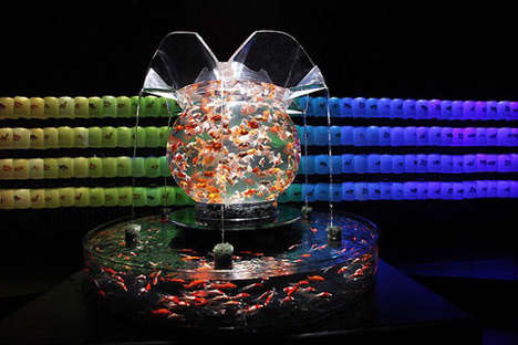 Hidetomo Kimura pop-up aquariums