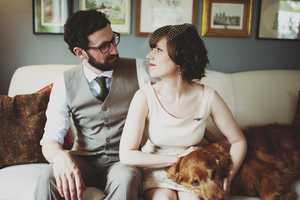 Kristen Marie Tourtillotte's Covers an Informal House-Bound Wedding