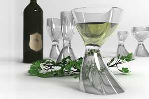 The Forms of the Vortex Liqeur Glass Set Seem Susceptible to Motion