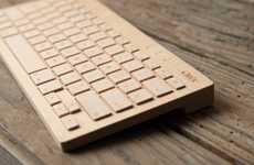 Wireless Wooden Keyboards - The Oree Board is Both Timeless and Cutting-Edge
