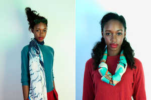 Charlotte Linton's Autumn/Winter 2012 Collection is Strictly Teal and Red