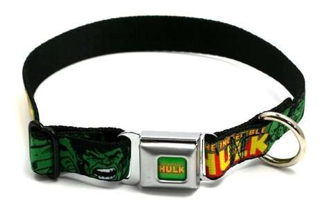 Hulk Seatbelt Buckle Dog Collar