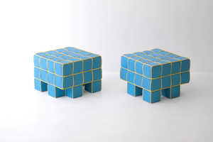 The Grid Sofa and Stool by Kim HyunJoo Showcases a Cubic Aesthetic