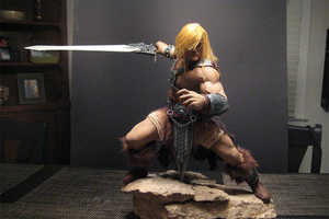 The He-Man Sculpture is a Custom Handmade Childhood Throwback