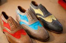 Color-Splashed Wingtip Shoes