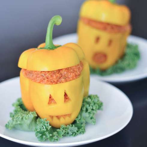 Jack-O-Lantern Veggie Dishes