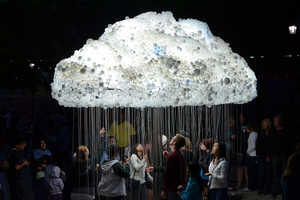 The Caitlan r.c. Brown CLOUD Installation is a Public Night Light