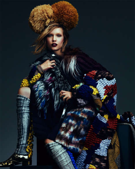 Eclectic Autumn Fashion - How to Spend it Magazine September 2012 Stars Josephine Skriver