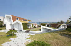 Hilly Eco-Friendly Houses - The E+ Green Home by Unsangdong Architects is Organic and Geometric