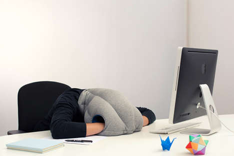 Head-Covering Cushions (UPDATE) - The Kawamura-Ganjavian Ostrich Pillow Lets You Rest in Public