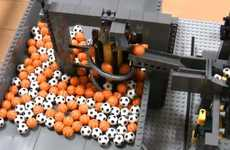 Homemade Building Block Machines - The Akayuki Ball Contraption is a Technical Toy Triumph