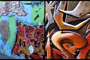 Deuce to 7 Graffiti Split Screen Compares 90s and 2012 Street Art