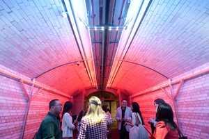 The Cinimod Studio Tunnel Boasts  Interactive Illumination