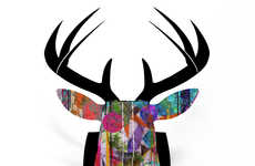 The DENY Design Custom Faux Deer Mount is Green