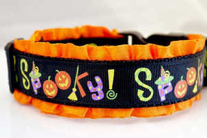 Halloween Dog Collars by Sweetie Pie Collar Supply are Festively Freaky